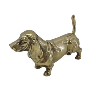 Heavy Brass Vintage Dog Figurine