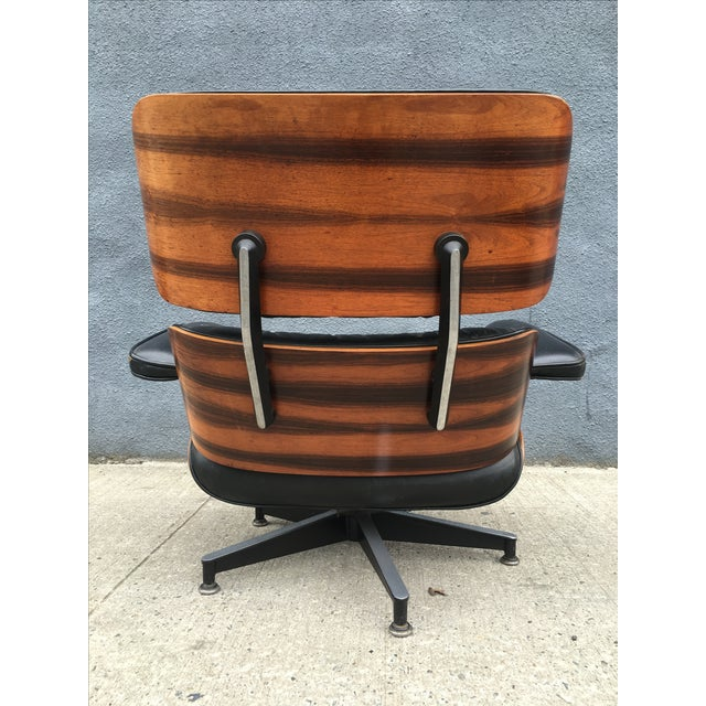 Eames Lounge Chair & Ottoman in Brazilian Rosewood - Image 6 of 10