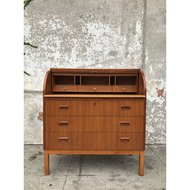 Teak Danish Modern Desk - Image 4 of 4