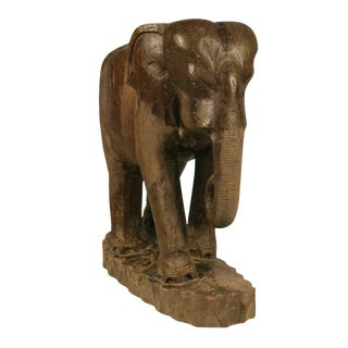 Hand Carved Teak Elephant