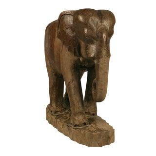 Hand Carved Teak Elephant