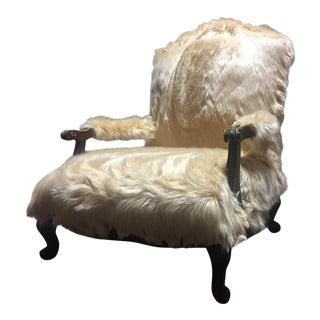 """Blonde Ambition"" Faux Fur Armchair"