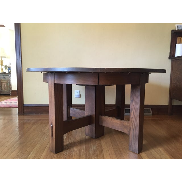 Stickley #634 Reproduction Oak Dining Table - Image 3 of 8
