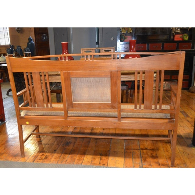 Arts and Crafts Style Bench - Image 3 of 4