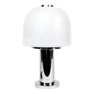 Italian Pop Art Glass & Chrome Lamp
