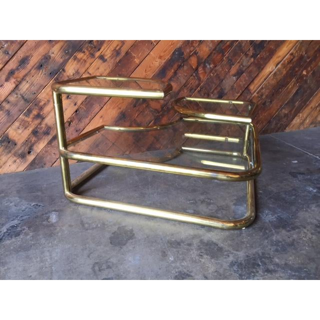 Vintage Swivel Brass Glass Coffee Table Chairish