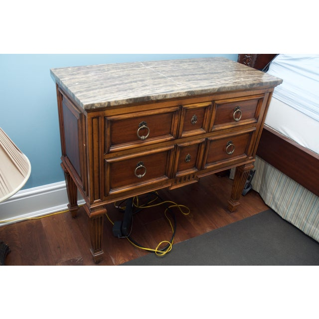 Ethan Allen Tuscan Bonner Tables- A Pair - Image 3 of 4