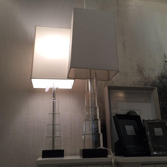 Skyscraper Crystal Lamps - Pair - Image 6 of 7