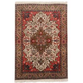 "RugsinDallas Hand Knotted Wool Persian Tabriz Rug - 3'4"" X 5'"