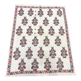 Handmade Silk and Cotton Flower Suzani