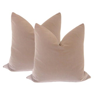 "20"" Taupe Velvet Pillows - a Pair"