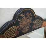 Image of Drexel Heritage Et Cetera Black Chinoiserie Mirror