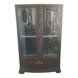 Carved 19th-Century Bavarian Display Cabinet