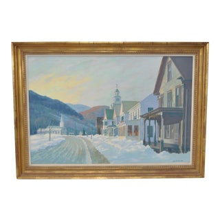 "Lee Winslow Court ""Townshend, Vermont"" Winter Landscape c.1950"