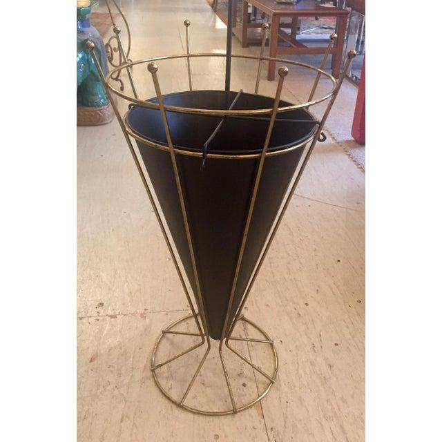 Umbrella Stand Ireland: Mid-Century Metal & Brass Umbrella Stand