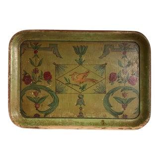 Bohemian Painted Wood Tray