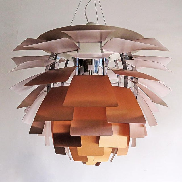 poul henningsen artichoke copper lamp chairish. Black Bedroom Furniture Sets. Home Design Ideas