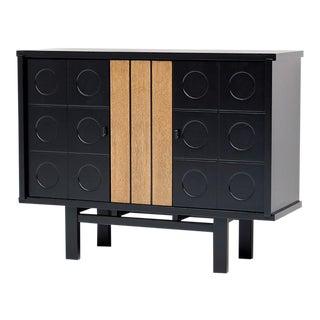 Black ebonized cabinet, belgian made 1970s