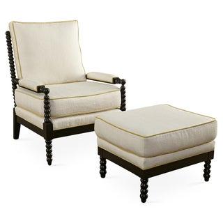 Taylor Burke Gregg Park Chair & Ottoman