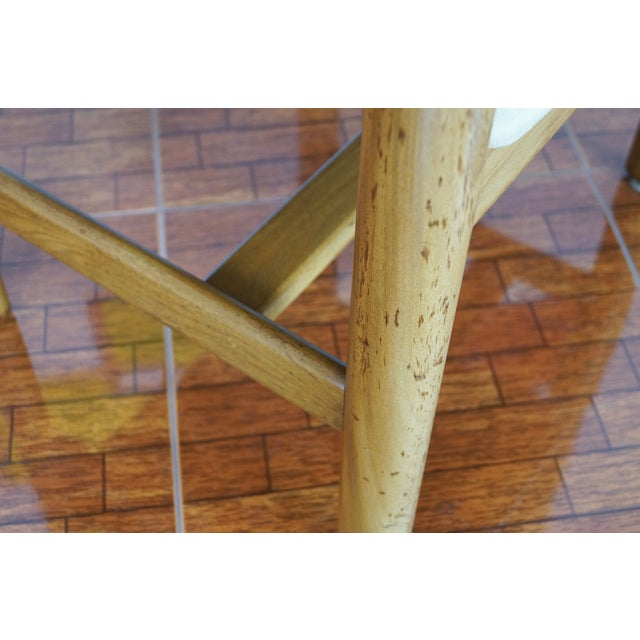 Vintage Walnut Armchairs - A Pair - Image 8 of 8