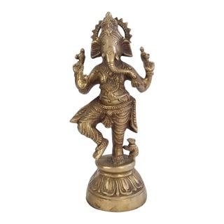 Brass Ganesha Deity Sculpture