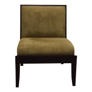 Crate & Barrel Olive Green Slipper Chair