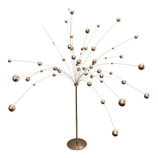 Laurids Lonborg Style Silver Kinetic Ball Table Sculpture