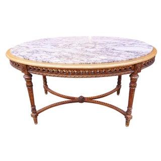 French Louis XVI X Base Center Table