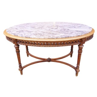 French Louis XVI X Base Center Table