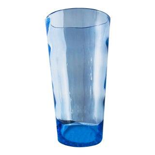 Mid-Century Blue Crystal Vase
