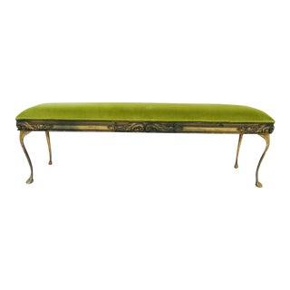 French Chartreuse Velvet Bench