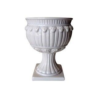 Vintage Italian Porcelain Pedestal Urn