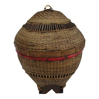 Vintage Chinese Woven Basket
