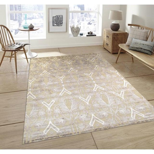 Pasargad Modern Silk & Wool Rug - 9′2″ × 11′10″ - Image 4 of 4