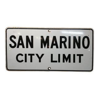 1930s San Marino City Limit