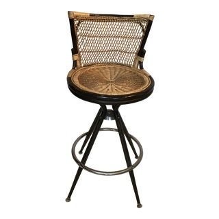 Vintage Rattan Furniture & Ware Company Bar Stool