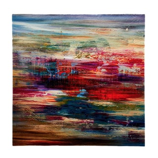 Rachel Guest Abstract Carnival Print On Canvas