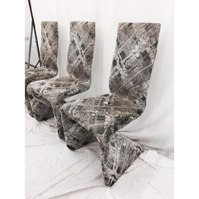 Futuristic Gray Swan Chairs - Set of 3 - Image 6 of 9