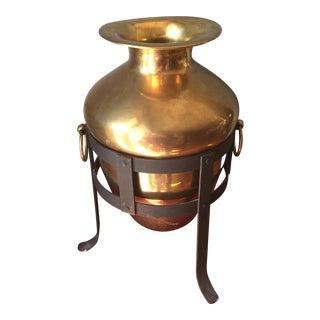 Brass Vase & Stand