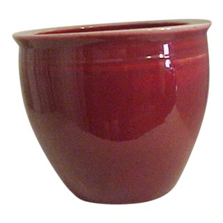 Large Red Oxblood Porcelain Planter
