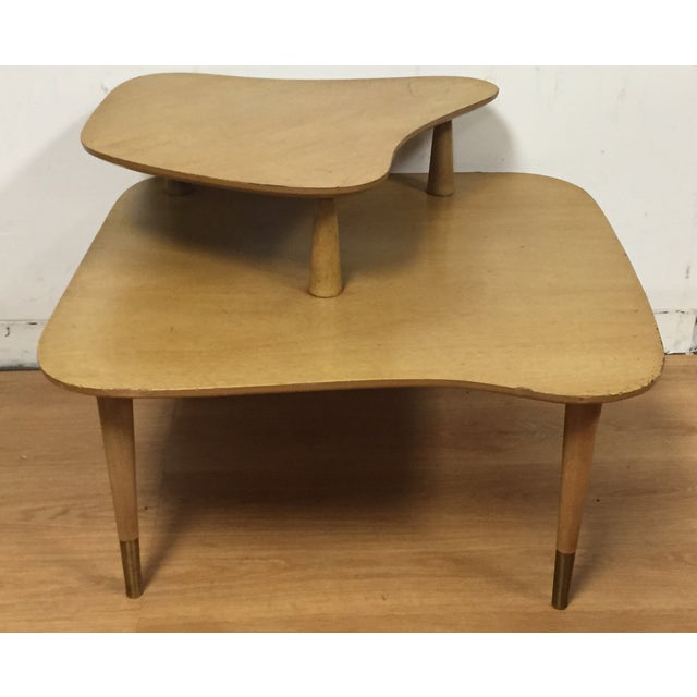 Bleached Mahogany Two Tiered Corner Table - Image 2 of 10