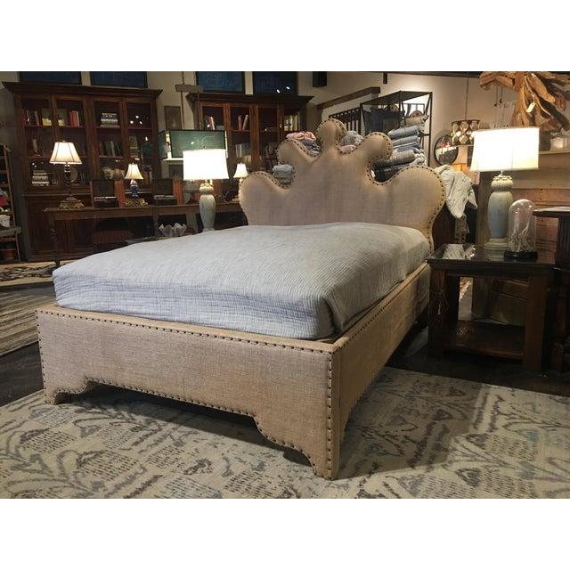 Noir Queen Burlap Bed - Image 9 of 10