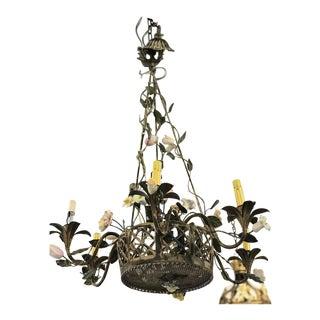 Vintage Metal Floral Chandelier