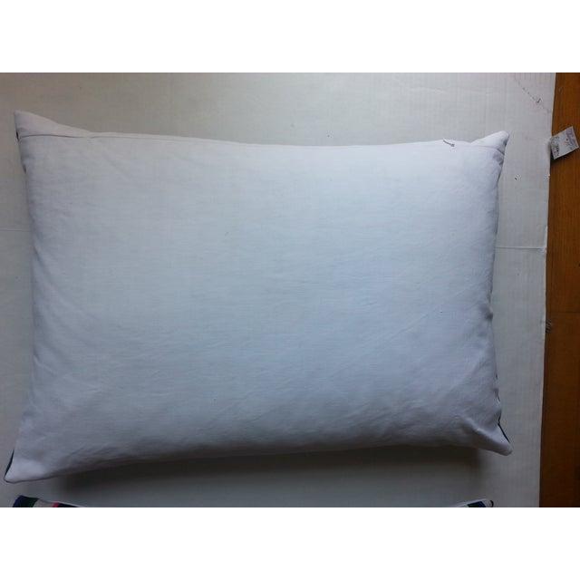 Guatemalan Multi-Plaid Pillows - A Pair - Image 4 of 4
