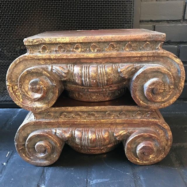 Corinthian Column Cap Pedestals - A Pair - Image 2 of 7