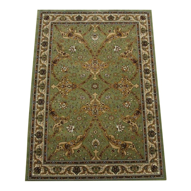 Persian Traditional Green Rug - 8′ × 11′ - Image 1 of 6