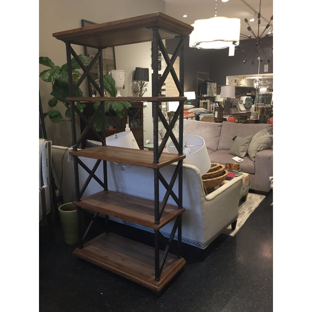 Distressed Iron and Wood Bookshelf - Image 5 of 5