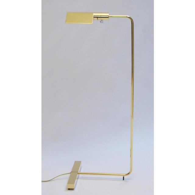 Cedric Hartman Polished Brass Reading Lamp - Image 3 of 8