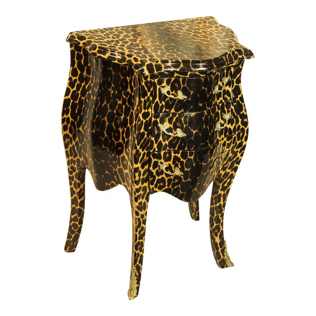 1920s Leopard Patterned Commode - Image 1 of 5
