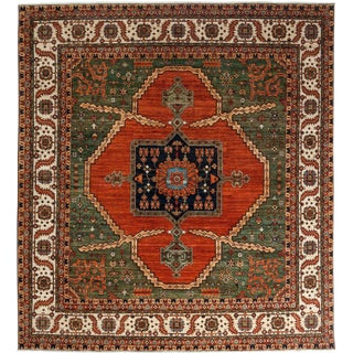 "Ziegler, Hand Knotted Square Rug - 10' 0"" X 10' 9"""